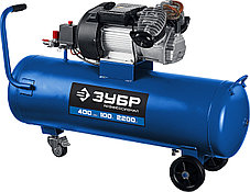 Компрессор воздушн. ЗУБР 2200 Вт, 400 л/мин, 100 л, (КПМ-400-100), фото 2
