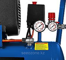 Компрессор воздушн. ЗУБР 2200 Вт, 320 л/мин, 24 л, (КПМ-320-24), фото 3