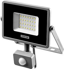 Прожектор светодиодный STAYER, 30 Вт, LEDPro, датчик движения (57133-30)