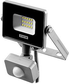 Прожектор светодиодный STAYER,  10 Вт, LEDPro, датчик движения (57133-10)