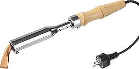 Электропаяльник для лужения с деревянной рукояткой Maxterm, STAYER 150 Вт, 220 В, клин (55311-150)