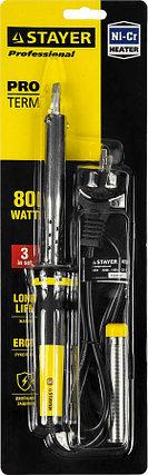 Электропаяльник Proterm, STAYER, 80 Вт, 220 В, клин, двухкомпонентная рукоятка (55300-80), фото 2