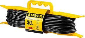 Удлинитель электрический силовой STAYER 30 м, 2200 Вт, 1 гнездо (55018-30_z01), фото 3
