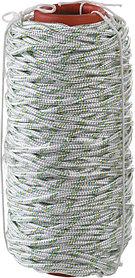 Фал плетёный капроновый с сердечником, СИБИН, 100 м, 6 мм, 16-прядный, 650 кгс (50220-06)