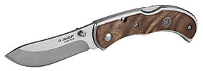 Нож складной СКИФ, ЗУБР, 180 мм/лезвие 75 мм, рукоятка с деревянными накладками (47712)