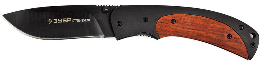 Нож складной НОРД, ЗУБР, 190 мм/лезвие 80 мм, металлическая рукоятка (47708), фото 2