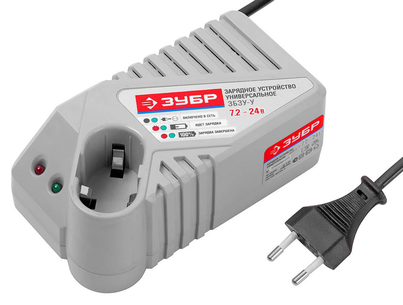 Зарядное устройство ЗУБР 7.2-24 В, для Ni-Cd, Ni-Mh АКБ (ЗБЗУ-У)