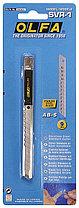 Нож OLFA с выдвижным лезвием и корпусом из нержавеющей стали, 9мм (OL-SVR-1), фото 3
