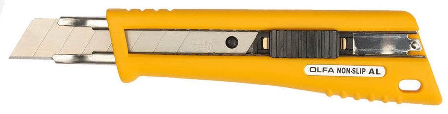 Нож с сегментированным лезвием OLFA 18 мм, со специальным покрытием, автофиксатор (OL-NL-AL), фото 2
