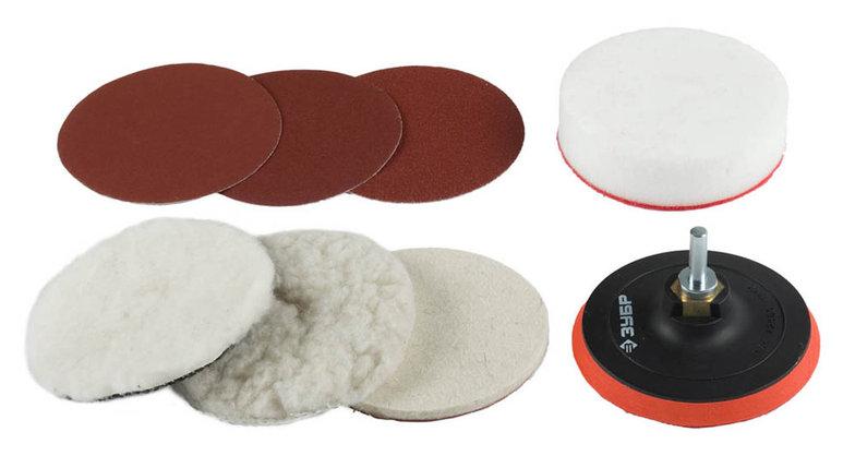 Набор насадки полировальные для дрели/УШМ, ЗУБР 115 мм, 7 шт. (3591-115-H7), фото 2