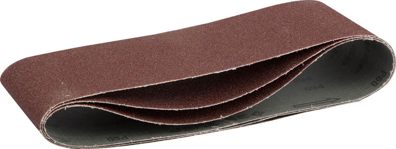 Лента шлифовальная ЗУБР P80, 100х610 мм, 3 шт., универс. бесконечная на тканевой основе для ЛШМ (35543-080)