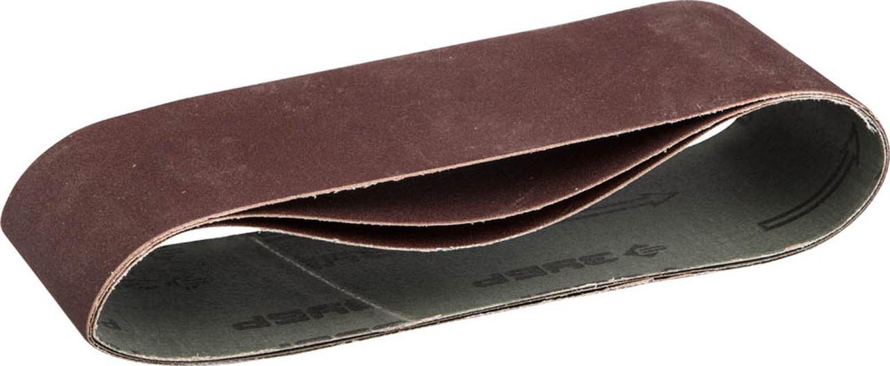 Лента шлифовальная ЗУБР P320, 75х533 мм, 3 шт., универс. бесконечная на тканевой основе для ЛШМ (35542-320)