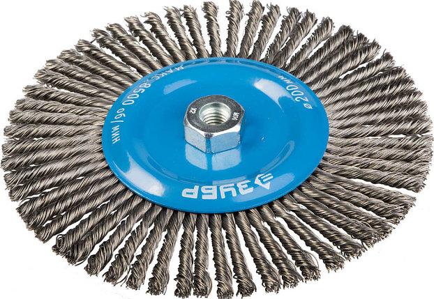 Щетка дисковая для УШМ, ЗУБР Ø 200 мм, проволока 0.5 мм (35192-200_z01), фото 2