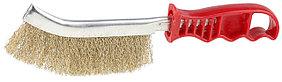 Щетка проволочная STAYER однорядная, витая стальная латунированная проволока (3508)