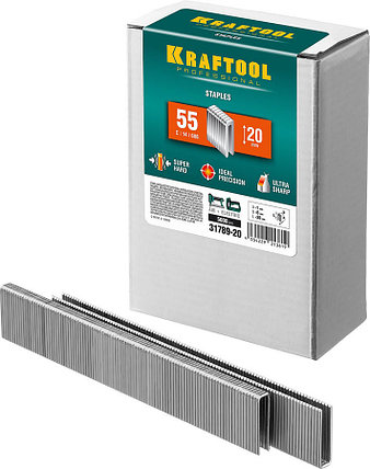 Скобы для степлера узкие, KRAFTOOL, скобы тип 55, 20 мм (31789-20), фото 2