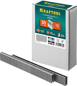Скобы для степлера узкие, KRAFTOOL, скобы тип 55, 15 мм (31789-15)