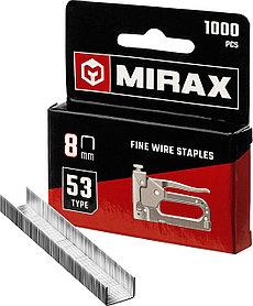 Скобы для степлера тонкие, MIRAX, скобы тип 53, 8 мм (3153-08)