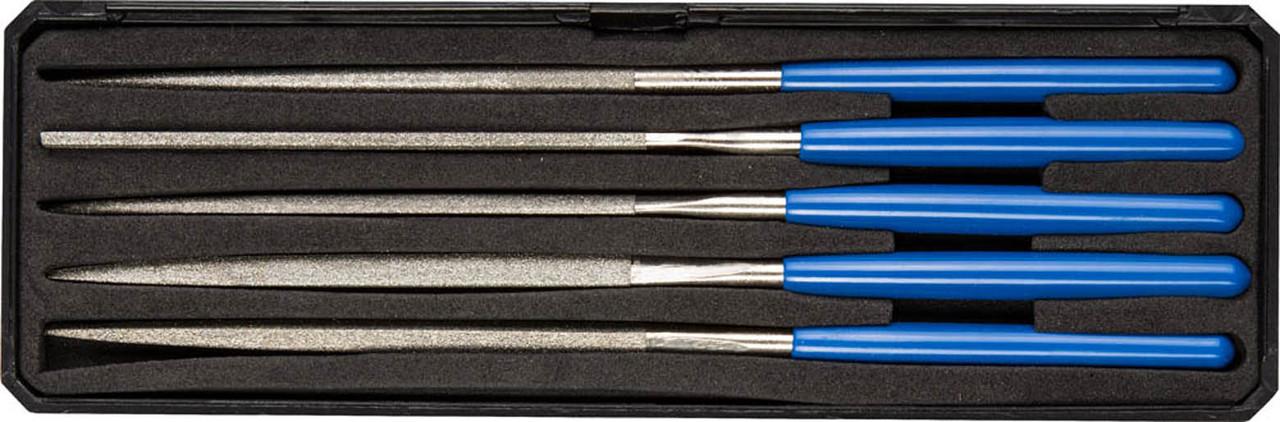 Набор надфилей, ЗУБР, 160 мм, 5 предметов, алмазное напыление, пластиковый бокс (33388-160-H5)
