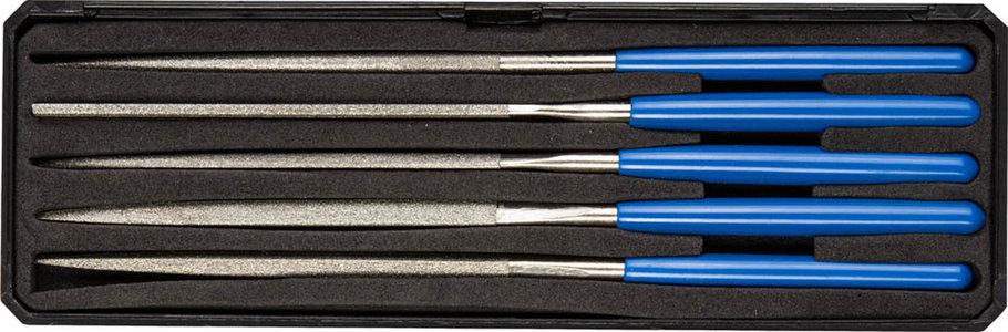 Набор надфилей, ЗУБР, 160 мм, 5 предметов, алмазное напыление, пластиковый бокс (33388-160-H5), фото 2