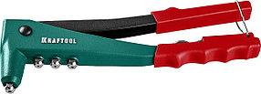 Заклепочник, KRAFTOOL, вытяжные 2.4-4.8 мм - алюминий и сталь, 2.4-4.0 - нерж. сталь, литой корпус (31170_z01)