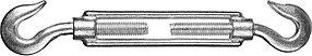 Талреп DIN 1480, STAYER, М8, 10 шт., крюк-крюк (30525-08), фото 2