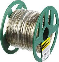 Трос, STAYER, 2 мм, 200 м, стальной в полимерной оболочке (30410-20)