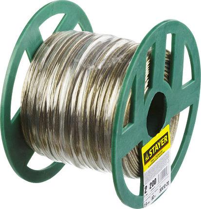 Трос, STAYER, 2 мм, 200 м, стальной в полимерной оболочке (30410-20), фото 2
