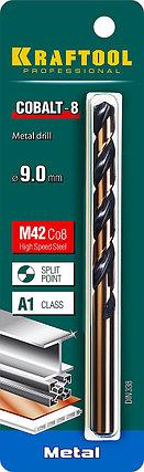 Сверло по металлу KRAFTOOL, Ø 9 мм, HSS-Co (8%), класс A, DIN 338 (29656-9), фото 2