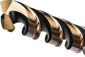 Сверло по металлу KRAFTOOL, Ø 8.5 мм, HSS-Co (8%), класс A, DIN 338 (29656-8.5), фото 2