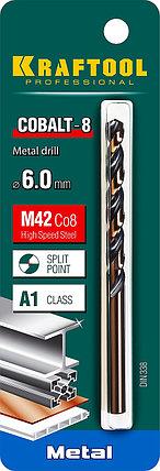 Сверло по металлу KRAFTOOL, Ø 6 мм, HSS-Co (8%), класс A, DIN 338 (29656-6), фото 2