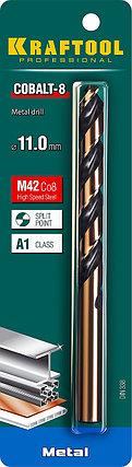 Сверло по металлу KRAFTOOL, Ø 11 мм, HSS-Co (8%), класс A, DIN 338 (29656-11), фото 2