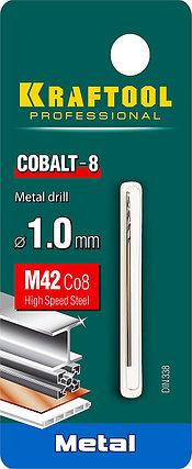 Сверло по металлу KRAFTOOL, Ø 1 мм, HSS-Co (8%), класс A, DIN 338 (29656-1), фото 2