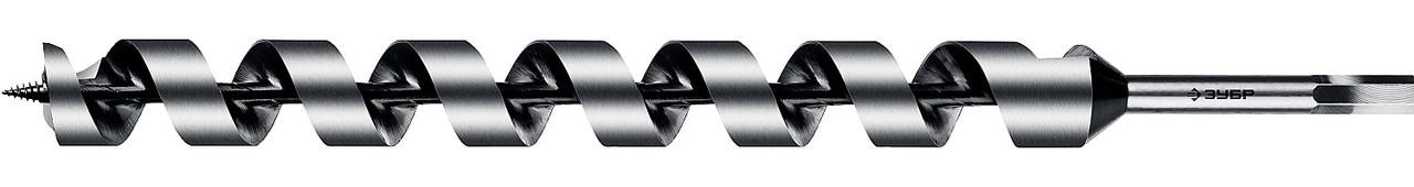 Сверло по дереву, ЗУБР, d=30 х 450 мм, HEX хвостовик, спираль Левиса (2948-450-30_z02)