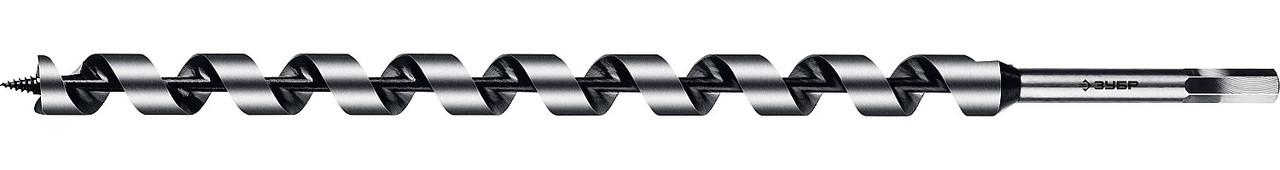 Сверло по дереву, ЗУБР, d=25 х 450 мм, HEX хвостовик, спираль Левиса (2948-450-25_z02)