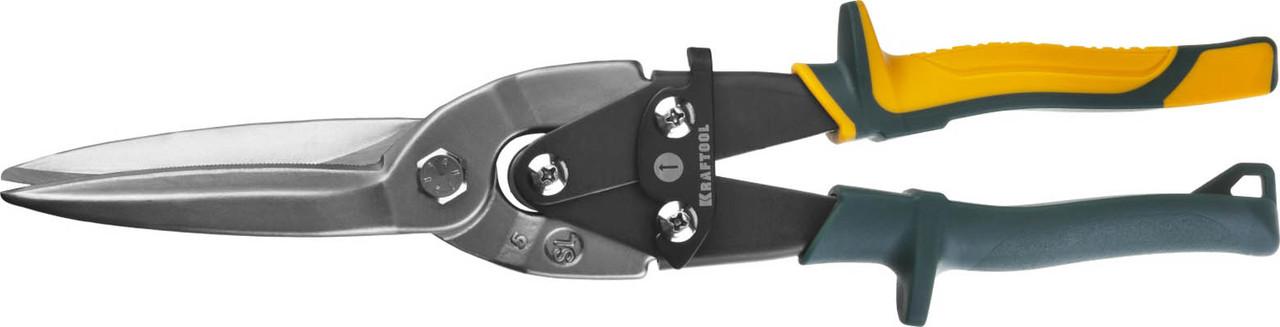Ножницы по металлу прямые удлиненные Alligator, KRAFTOOL, 290 мм, Cr-Mo (2328-SL)
