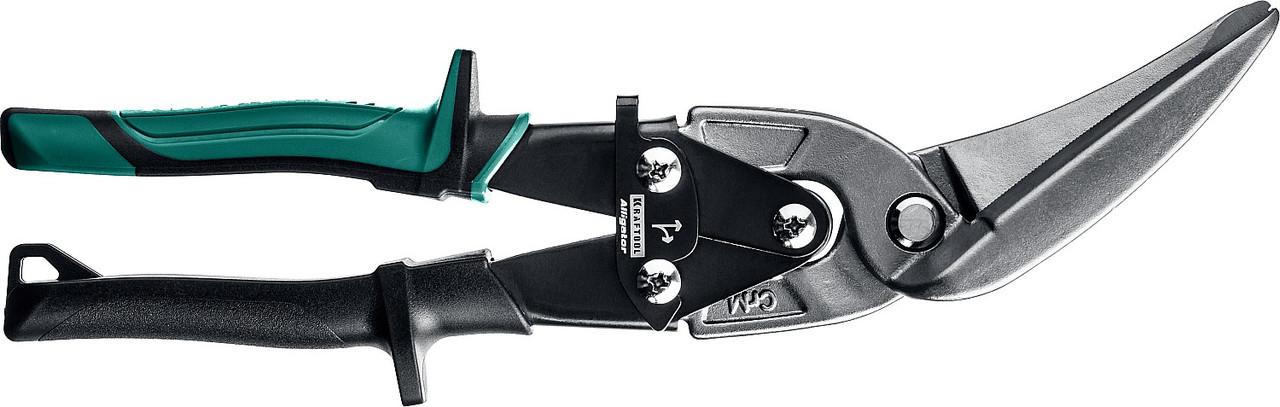 Ножницы по металлу правые удлинённые Alligator, KRAFTOOL, 280 мм, Cr-Mo (2328-RL)