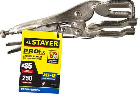 Зажим ручной сварщика, STAYER, 250 мм, CrV (22470_z01), фото 2
