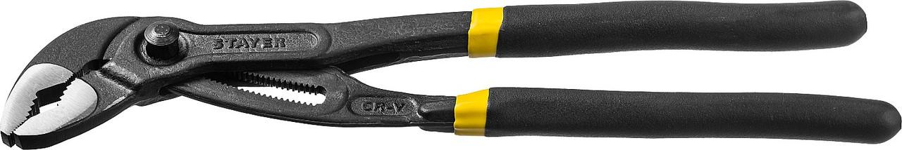 Клещи переставные OMEGA, STAYER, 300 мм (2240_z02)