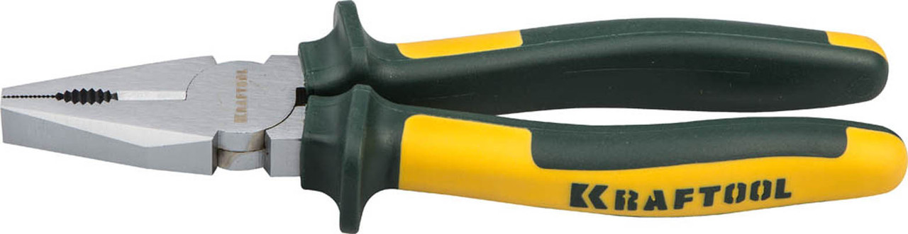 Плоскогубцы комбинированные KRAFT-MAX, KRAFTOOL, 180 мм, Cr-Mo (22011-1-18)