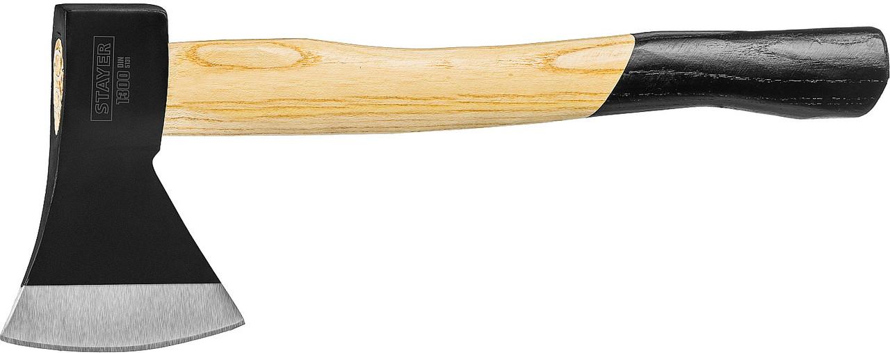 Топор кованый, STAYER, 1300 г, с деревянной рукояткой 430 мм (20610-13_z01)