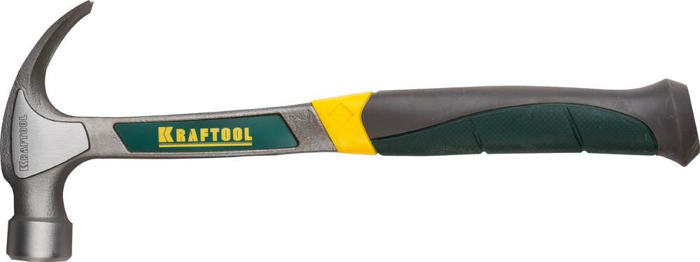Молоток-гвоздодёр цельнокованый столярный THOR, KRAFTOOL, 450 г (20270-450)