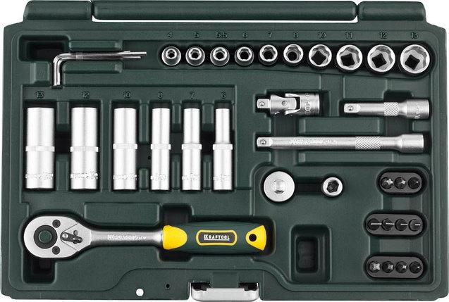 Набор автомобильного инструмента, KRAFTOOL, 37 шт. (27881-H37_z02), фото 2