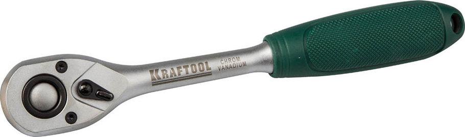 "Трещотка для торцовых головок, KRAFTOOL, 1/4"", 72 зубца, Cr-V сталь (27790-3/8_z01), фото 2"