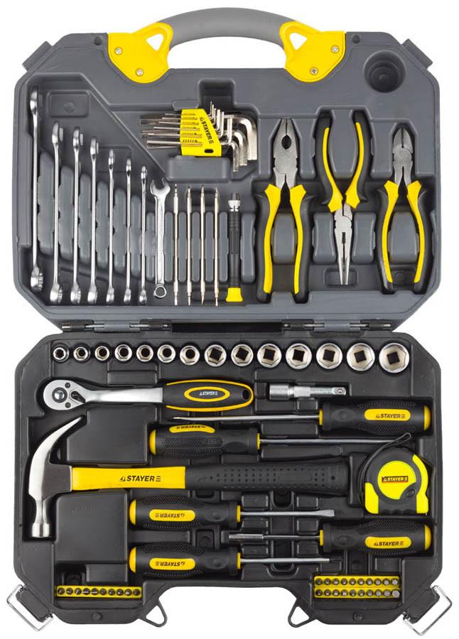 Набор слесарно-монтажного инструмента, STAYER, 78 шт. (27710-H78)