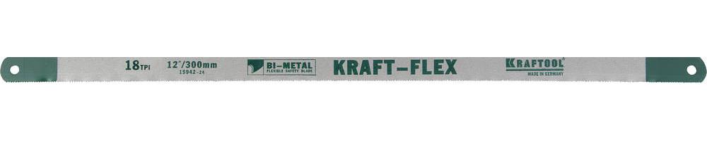 Полотно по металлу KRAFTOOL, 18 TPI, 300 мм (15942-18-S10)