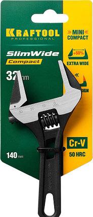 Ключ разводной SlimWide Compact, KRAFTOOL, 140/28 мм, Cr-V (27266-20), фото 2