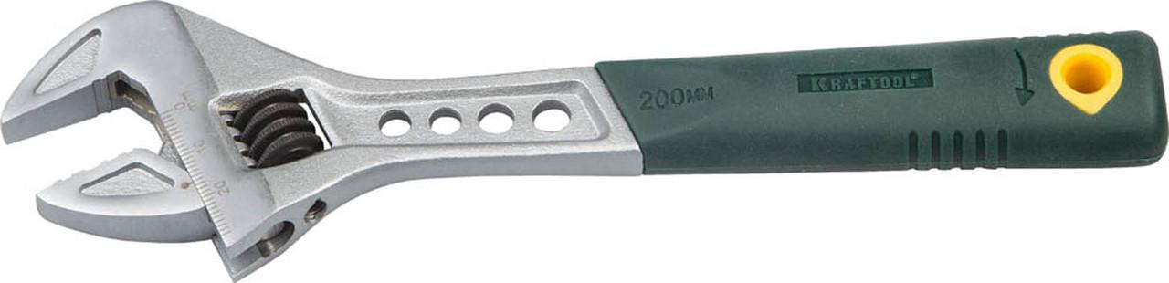 Ключ разводной Tiger, KRAFTOOL, 200/30 мм -, Cr-V (27265-20)
