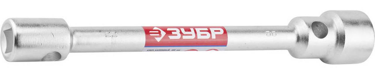 Ключ баллонный торцевой, ЗУБР, 22-38 мм, хромированный (27180-22-38)