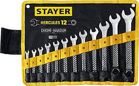 Набор комбинированных гаечных ключей HERCULES, STAYER, 12 шт, 6 - 22 мм (27081-H12_z01)