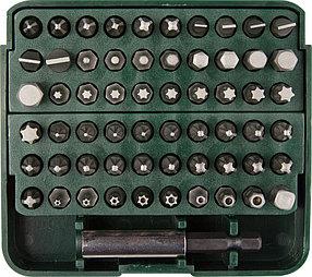 """Набор бит с адаптером в пластиковом боксе GRAND-61, KRAFTOOL, 61 шт., серия """"Профессионал"""" (26140-H61)"""
